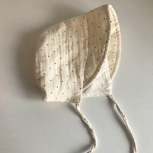 Brand New Linen Brimmed Bonnet 12-18 Months